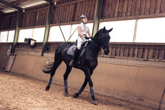 Young Girl Riding Her Horse Stock Images