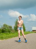 Young girl on roller blades Royalty Free Stock Image