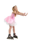 Young  girl on roller blades Stock Images