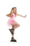 Young  girl on roller blades Royalty Free Stock Photography
