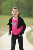 Young girl rollerblading Royalty Free Stock Images