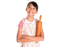 Young Girl With Rolling Pin VII Stock Image