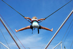 Young girl  on rope jumping Royalty Free Stock Photos