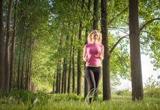 Young girl runner Stock Image