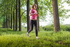 Young girl runner Royalty Free Stock Image