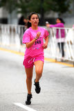Young Girl Running a 5K Race Royalty Free Stock Photography