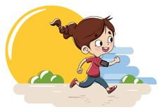 Young girl running royalty free stock photos