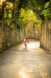 Young girl running Royalty Free Stock Image
