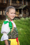 Young girl in Russian national dress Stock Photo