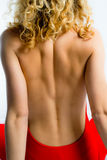 Young girl's back Stock Image
