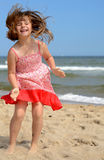 Young girl's beach expression Royalty Free Stock Photos