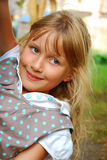Young girl `s outdoor portrait Royalty Free Stock Photography