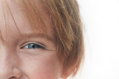 Young girl's smiling eyes Stock Photography