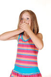 Young girl said to much. Royalty Free Stock Photography