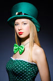 Young girl in saint patrick Royalty Free Stock Photos