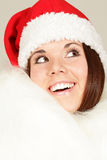Young girl in santa hat Royalty Free Stock Photography