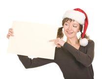 Young girl in Santa hat Stock Photos