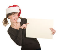 Young girl in Santa hat Royalty Free Stock Images