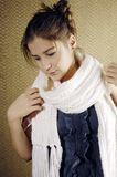 Young girl with scarf Stock Image
