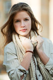 Young girl in a scarf Royalty Free Stock Photos