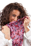 Young girl with scarf Stock Photos