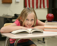 Young girl at school Royalty Free Stock Images