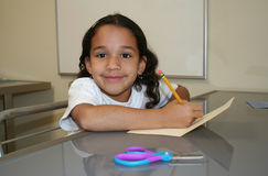 Young Girl At School Stock Photography