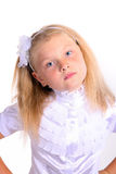 Young girl in school uniform Royalty Free Stock Photos