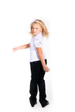 Young girl in school uniform Stock Photography