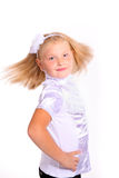 Young girl in school uniform Royalty Free Stock Photo