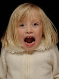 Young girl screaming royalty free stock image