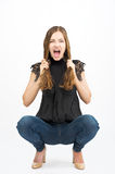 Young girl screaming Royalty Free Stock Photography