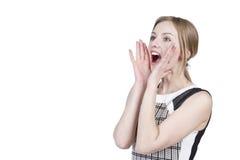 Young girl screams Stock Photos