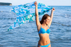 Young girl on the sea Stock Photography
