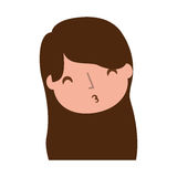 Young girl sent air kiss. Vector illustration graphic design Royalty Free Stock Photography