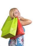 Young girl with several shopping bags Stock Photo
