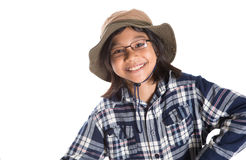Young Girl With Shirt And Hat I Royalty Free Stock Photos