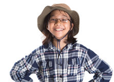 Young Girl With Shirt And Hat II Stock Photo