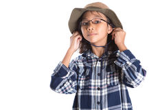 Young Girl With Shirt And Hat III Stock Image