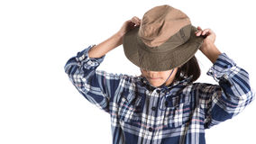 Young Girl With Shirt And Hat IX Royalty Free Stock Photography