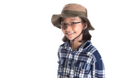 Young Girl With Shirt And Hat V Royalty Free Stock Photo