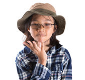 Young Girl With Shirt And Hat VI Royalty Free Stock Photos