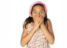 Young girl in shock Royalty Free Stock Photo