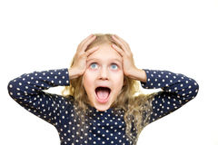 Young girl with shocked expression Royalty Free Stock Photography