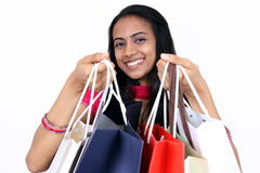 Young girl shopping. Royalty Free Stock Photo