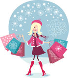 Young girl shopping Royalty Free Stock Images