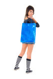 Young Girl With The Shopping Bag. Royalty Free Stock Photography