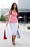 Young girl with a shopping Bag Royalty Free Stock Photo
