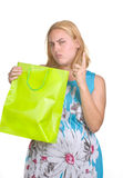 Young girl with  shopping bag Royalty Free Stock Photos