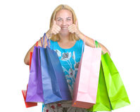 Young girl with  shopping bag Royalty Free Stock Photo